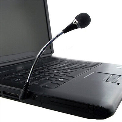 Mini Flexible Microphone Mic 3.5mm Plug For PC Laptop Notebook • 3.59£