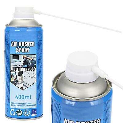 400ml COMPRESSED AIR DUSTER CLEANER SPRAY CAN CANNED LAPTOP KEYBOARD MOUSE • 7.95£