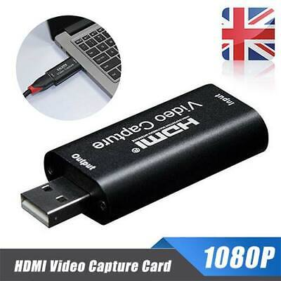 HD 1080P HDMI To USB Video Capture Card For Game Live Streaming Portable UK New • 7.66£