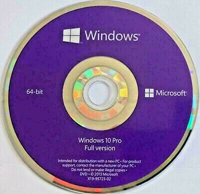 WINDOWS10 PROFESSIONAL 64 Bit Genuine DVD NO COA License Only DVD. • 9.99£