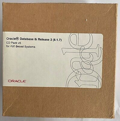 Oracle Database 8i Release 3 (8.1.7) CD Pack V5 For AIX-Based Systems • 60£