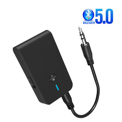 3.5mm Wireless Bluetooth 5.0 Transmitter Receiver A2DP Audio Jack Aux Adapter UK • 7.55£