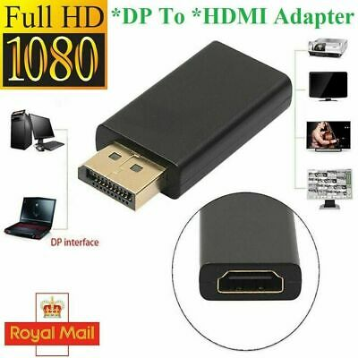 Display Port DP Male To HDMI Female Flat Adapter Connector Converter For HDTV PC • 2.79£
