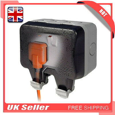 Outdoor Garden Extension Lead Socket Box IP66 Rated Storm Switched Socket 10-16A • 9.98£