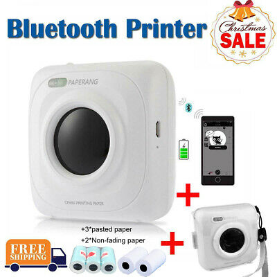 PAPERANG Mini Photo Receipt Paper Printer Mobile Phone Instant Thermal Bluetooth • 32.58£