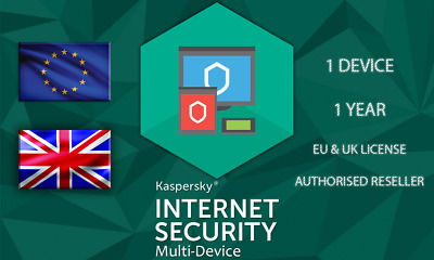 Kasperksy Internet Security 1 Device Or Pc 1 Year Eu Genuine License • 4.69£