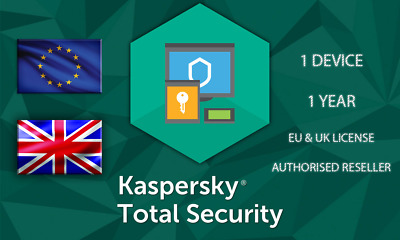 Kasperksy Total Security 1 Device Or Pc 1 Year Eu Genuine License • 5.09£