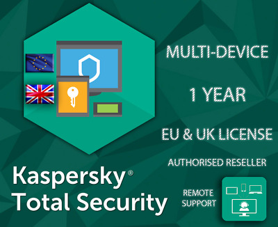 Kaspersky Total Security 1/3/5/10 Multi Device Lot Eu & Uk Genuine License • 15.39£