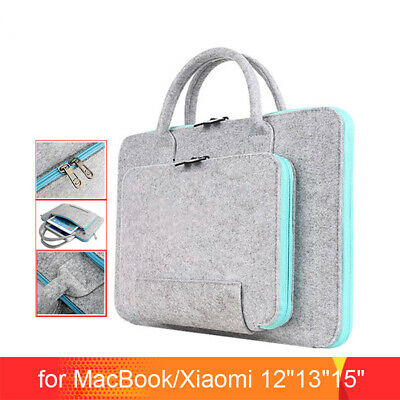 11 13 15 17 Inch Wool Felt Laptop Bag Tablet Mouse Bags Briefcase For Laptop PC • 8.99£