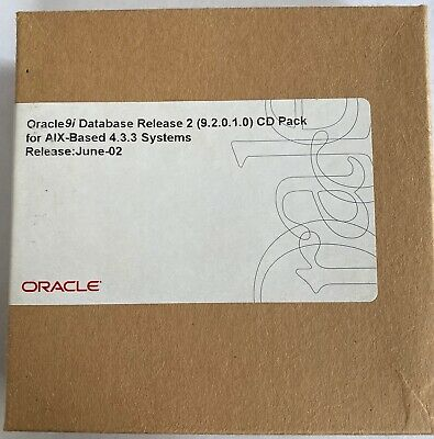 Oracle 9i Database Rel 2 (9.2.0.1.0) CD Pack For AIX-Based 4.3.3 Systems June-02 • 35£