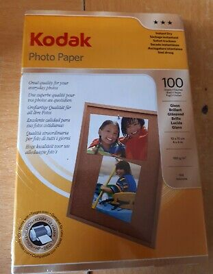 Kodak Photo Paper 100 Sheets Gloss 4 X 6  Instant Dry NEW SEALED  • 11.99£
