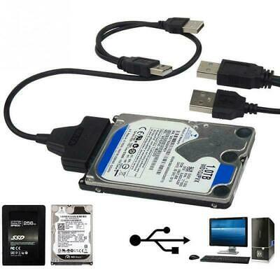 USB To Sata External HDD SSD Hard Disk Dirive Adapter 2.5  Converter Lead Cable • 2.99£