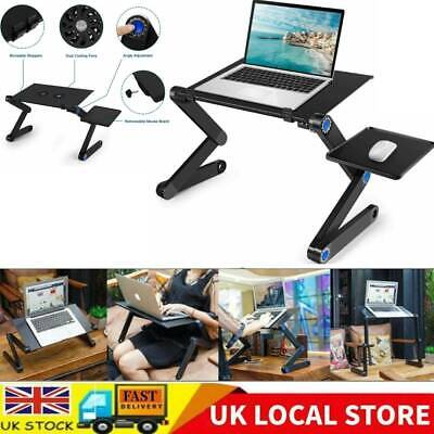 Folding Notebook Laptop Desk Table Stand Sofa Bed Tray W/ Cooling Fan Mouse Boad • 15.08£