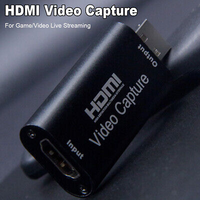 4K HD 1080P HDMI To USB Video Capture Card For Game / Live Streaming Portable • 7.99£