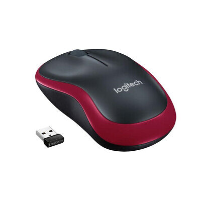 M185 Fit Optical Mouse Black & Currys Red USB 2.4-GHz Mice New LOGITECH Wireless • 7.59£