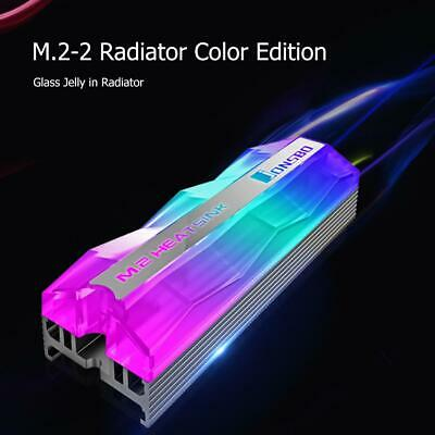 Jonsbo M.2-2 Colorful Lighting M.2 2280 SSD Heatsink FAN Pin Cooling Pad • 10.07£