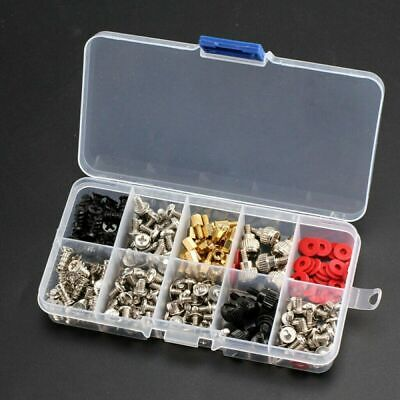 228PCS Computer PC Screw Kit Case For Motherboard Case Fan Hard Disk Notebook • 7.19£