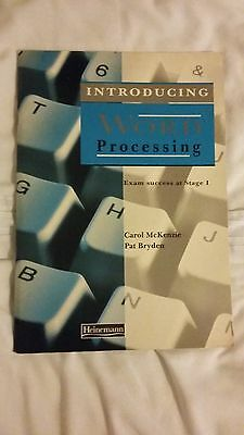 Introducing Word Processing By Pat Bryden, Carol McKenzie (Paperback, 1994) • 4£