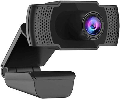1080p Webcam With Microphone Full HD Video Camera USB For PC Desktop Laptop Mic • 10.49£