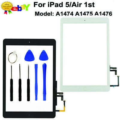 For IPad 5 Air 1 A1474 A1476 A1475 Touch Screen Replacement Digitizer IC Black • 8.97£
