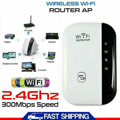 1/2X 300Mbps WiFi Repeater Router Range Extender Signal Blast Booster UK Plug In • 16.95£