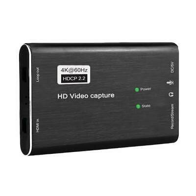 HDMI To USB 3.0 Video Capture Card 60fps 4K 1080p HD Recorder Game Live Stream • 27.10£