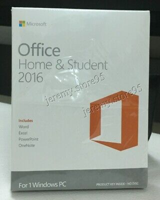 Microsoft Office Home And Student 2016 Retail For 1PC Windows Full Version • 26.70£
