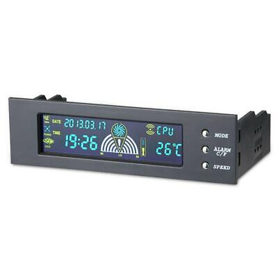 5.25in Bay Front LCD Panel 3 Fan Speed Controller CPU Temperature Sensor • 16.36£