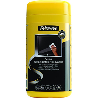 Fellowes Performance Screen Cleaning Wipes Tub, 100 Wipes • 4.91£
