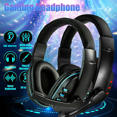 Stereo Video Gaming Headset For Xbox One PS4 Nintendo Switch & PC Mic Headphones • 8.99£