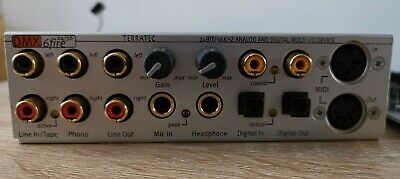 Terratec DMX6FIRE 24/96 *Internal Sound Card With Front I/O Module & Cable* • 9.99£