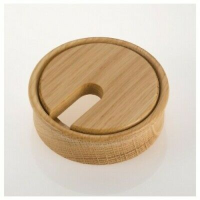 OAK Wooden Cable Ports / Grommets / Hole Tidies | 80mm Dia | BACK IN STOCK! • 9.87£