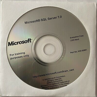 Microsoft SQL Server 7.0 - Evaluation Copy And Student Materials • 5£