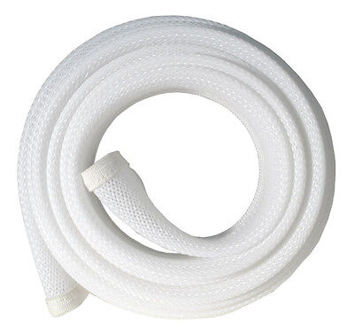 Fisual Zip Up Cable Tidy Wrap - White - 1M • 10£