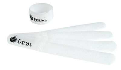 Fisual Chunky Reuseable Hook & Loop Cable Ties - White - 20 Pack • 3.99£