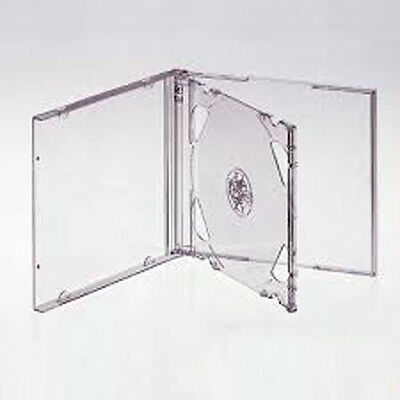 5 CLEAR DOUBLE JEWEL CD Cases (New) • 4.49£