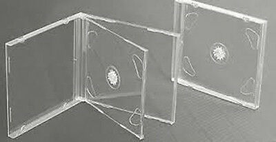 10 CLEAR DOUBLE JEWEL CD Cases 10.2mm (New) • 6.49£