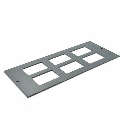 6 Way Data Plate 6C Cut Outs For Cavity Floor Box 06298 [007789] • 5.46£