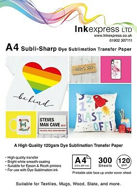 120gsm A4 Dye Sublimation Paper 300 Sheets Ideal For Mug Or T-shirts • 26.50£