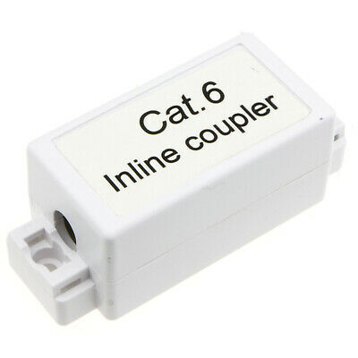 Inline Punch Down Coupler For Lan Cables CAT6 White [002232] • 3.59£