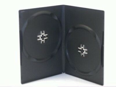 1 Double 2 Disc Black 14mm DVD Case (New) • 1.59£