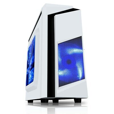 CiT F3 Mid Tower Gaming Case - White USB 3.0 • 29.03£
