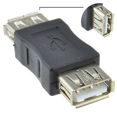 USB 2.0 A Socket Female To Female Adapter Joiner Coupler [002623] • 1.84£