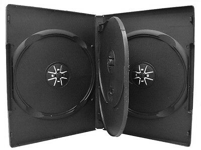 1 X Quad 4 Disc Black  DVD Case 14mm With Tray • 1.89£
