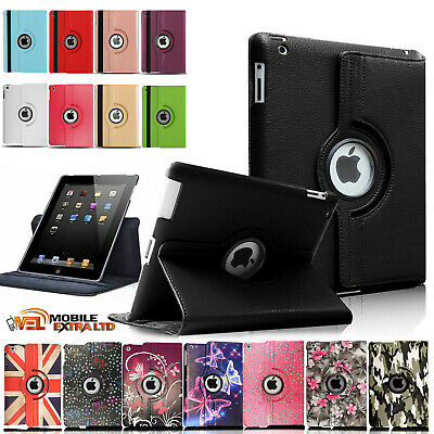 Leather 360 Rotating Smart Case Cover Apple IPad 5th 6th Generation 9.7 Inch • 4.95£
