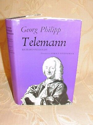 Vintage Book Of Georg Philipp Telemann, By Richard Petzoldt - 1974 • 39.99£