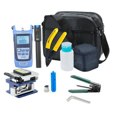 13 In 1 FTTH Fiber Optic Tool Kit With Cleaver Optical Power Meter Clamp • 49.32£