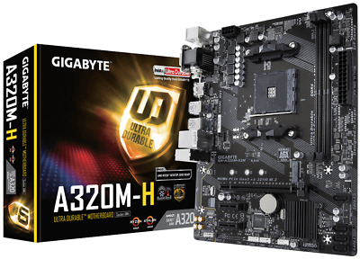 Gigabyte A320M-H MATX Motherboard For AMD AM4 CPUs • 45.64£