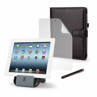 Griffin IPad (3rd Generation) + 2 Essentials Bundle  (Stand-Folio-Stylus) - NEW  • 7.50£