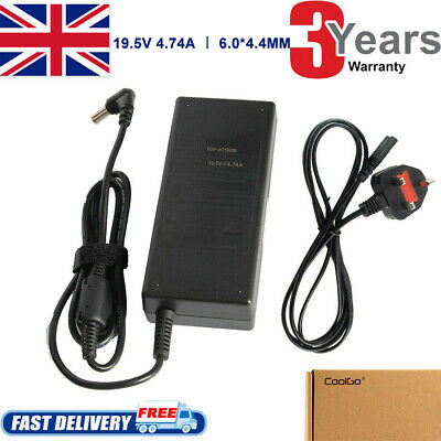 For Sony Vaio Laptop Charger Pcg-71311m Adapter 19.5v + Power Supply Cable • 10.49£